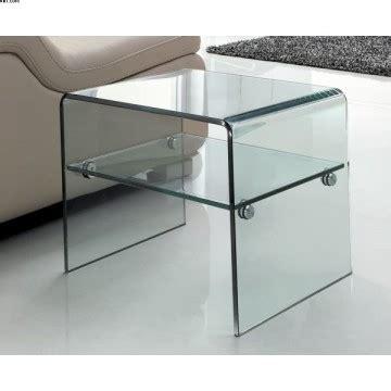 bout de canapé en verre bout de canapé en verre transparent