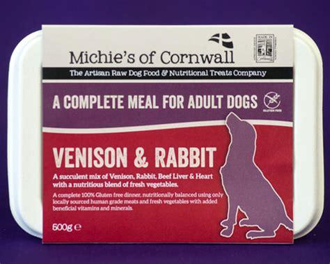 venison rabbit dog food  adults michies raw dog food