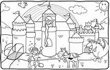 Coloring Princess Castle Pages Knights Castles Knight Lego Dragon Dragons Drawing Print Disney Medieval Getdrawings Town Printable Sheets Crafts Getcolorings sketch template