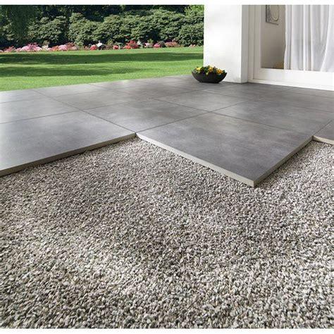 fugenkreuze für terrassenplatten terrassenplatte feinsteinzeug streetline graphit 60 x 60 x 2 cm terrassenplatten