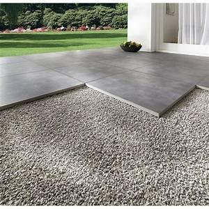 Terrassenplatte feinsteinzeug streetline graphit 60 x 60 for Garten planen mit pflanzkübel 50 x 50 cm
