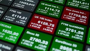 Stock Market Board On A Green Background. May Represent ...