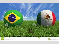 World Cup Brazil Mexico Royalty Free Stock Photography