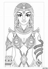 Cleopatra Queen Egypt Coloring Adult Pages Artist sketch template