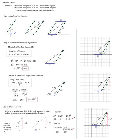 Vector Addition Worksheet  Vector Addition Worksheet 1 Fall 2011 Mark Scheme For Extension
