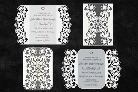 pin  etsy cricut laser cut wedding invitations