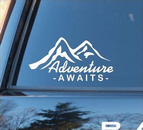 adventure awaits  mountain silhouette nature calls