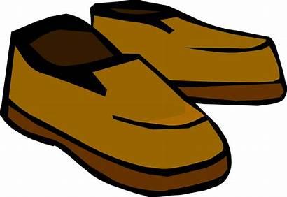 Shoes Clipart Brown Cartoon Penguin Running Club