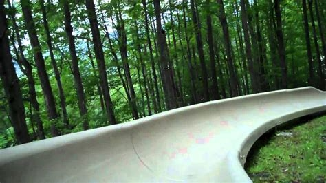 Alpine Slide At Bromley Mountain In Vt Youtube