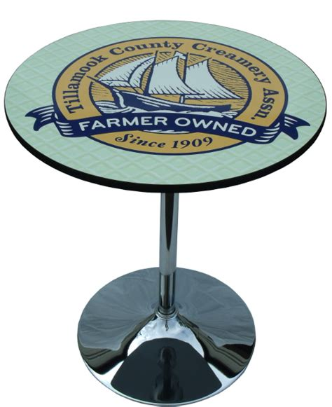 trade show round tables round logo graphic table top for trade shows events