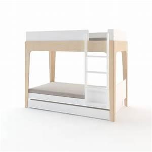 Lit Superposé Tiroir : tiroir lit perch pour lit superpos blanc oeuf nyc pour chambre enfant les enfants du design ~ Teatrodelosmanantiales.com Idées de Décoration