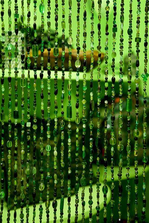 kralengordijn van glaskralen ook als vliegengordijn