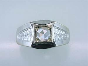 vintage antique 1 2ct rose cut diamond 18k mens engagement With mens vintage wedding rings