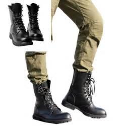 s lace up boots size 11 size 5 11 black combat leather shoes lace up mens ankle boots shoes ebay