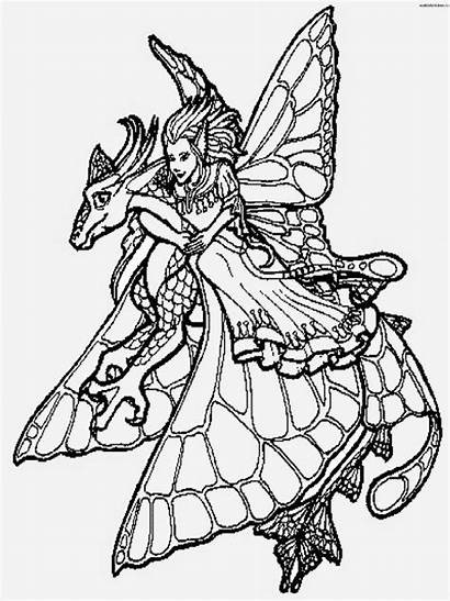 Coloring Pages Dragon Dragons Printable Colouring Fairy