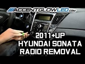 Hyundai Sonata Radio Disassembly    Removal 2011
