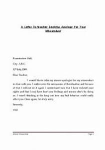 Sample Apology Letter To Teacher For Talking In Class ...