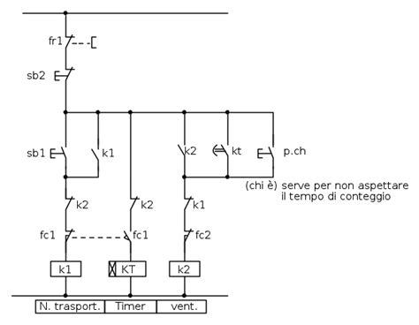 schema elettrico nastro trasportatore fare di una mosca