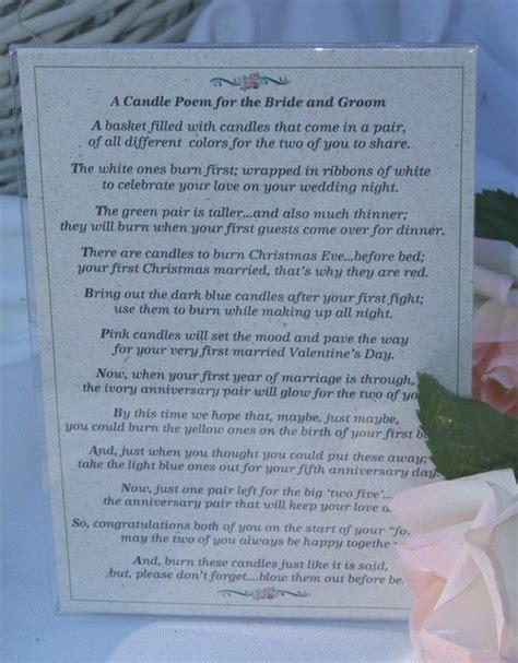 Wedding Candle Poems