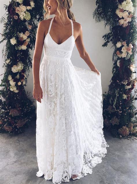 Boho Wedding Dresseslace Wedding Dressbackless Bridal