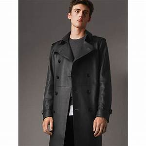 Trench Coat Burberry Homme : lambskin trench coat in black men burberry united states ~ Melissatoandfro.com Idées de Décoration