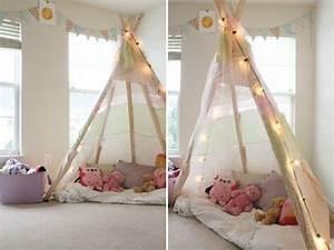 Tipi Pour Chambre : comment fabriquer un tipi 60 id es pour une tente indienne sympa pinterest chambre enfant ~ Teatrodelosmanantiales.com Idées de Décoration