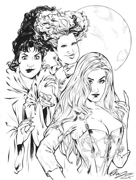 pin  peyton eliza   hocus pocus halloween coloring pages witch coloring pages
