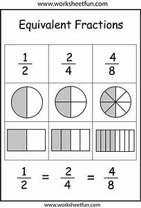 Equivalent Fraction Circles Worksheet - fractions ...