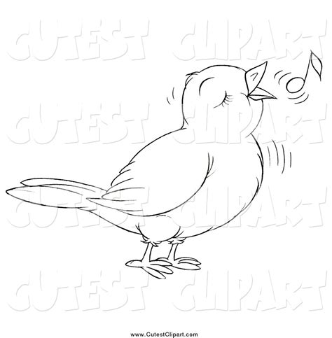 Black And White Bird Clipart