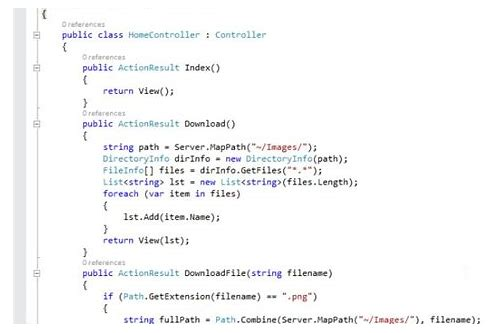 download text file c# mvc