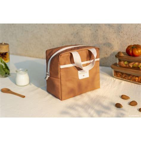 nobodinoz lunch bag cinnamon   bebe
