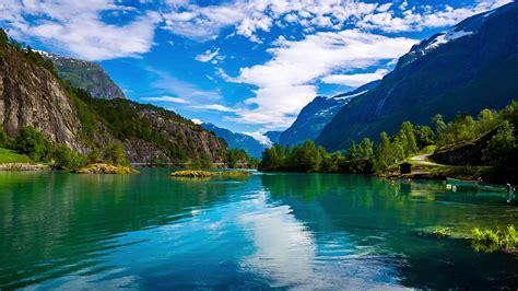 Beautiful Desktop Picture by Lovatnet Lake Beautiful Nature Stock Footage