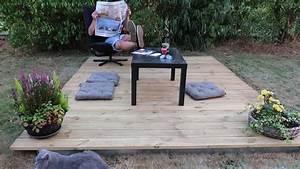 Amenager Un Petit Jardin Sans Pelouse : poser une terrasse bois en 2 minutes id al jardin privatif camping mobil home camping car ~ Melissatoandfro.com Idées de Décoration