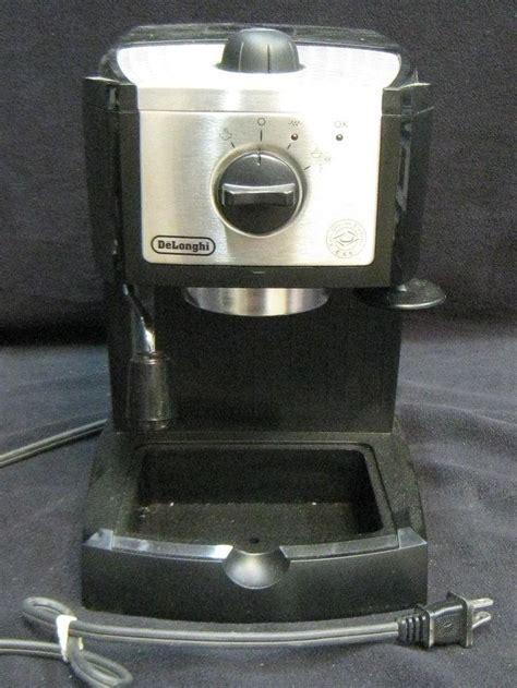 delonghi toaster repair delonghi ec155 espresso and cappuccino maker ec 155 as is