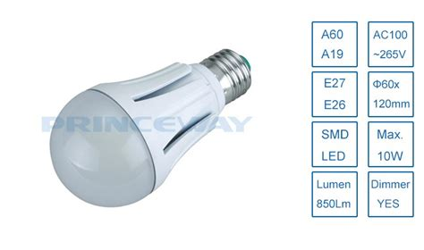 smd5630 high lumen 850lm 10w a60 a19 led globe light bulb