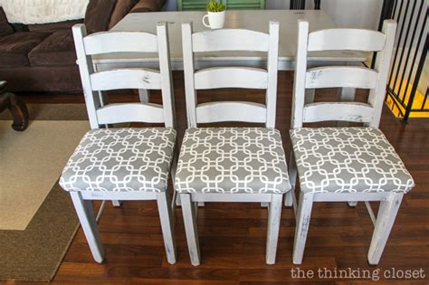 how to reupholster a dining chair seat diy tutorial the thinking closet