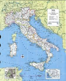 Detailed Political Map of Italy