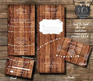 25 rustic wood seal and send invitationsseal and send With wedding invitations and rsvp all in one