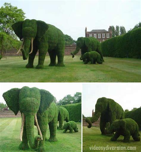 si鑒e de jardin un jardín hecho de elefantes y diversion