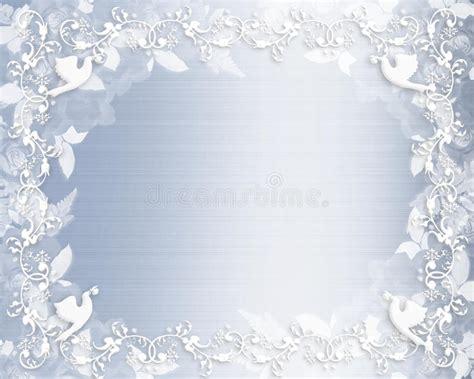 cetim floral do azul da beira do convite do casamento fotografia de stock imagem 10142182