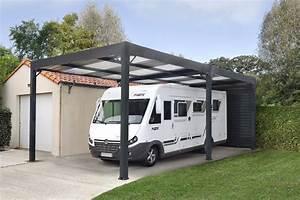 Carport Camping Car : carport abris camping cars toit plat ~ Dallasstarsshop.com Idées de Décoration