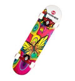 amazon com punisher skateboards butterfly jive complete