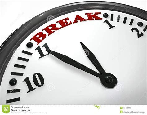 Break Time Hour Stock Illustration. Illustration Of Stress