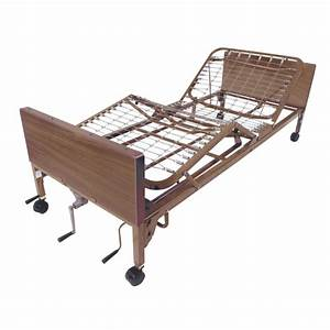 Multi Height Manual Hospital Bed With Half Rails And