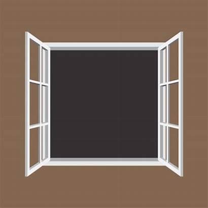Window Frame Open Clipart Vector Illustration Icon