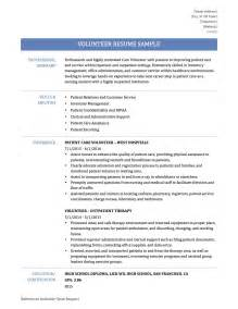 volunteer work resume sles