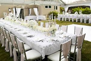 Kara's Party Ideas Dining Tables from an Elegant White ...