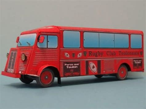 Paper Model Of A Citroën Hy Rugby Club Toulonnais