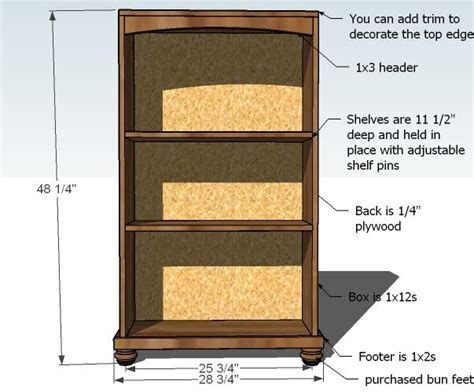 fe guide building  woodworking plans  bookcases