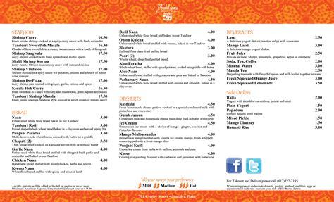 word for cuisine menu bukhara indian bistro